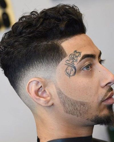Curly Shape Up with Taper Fade