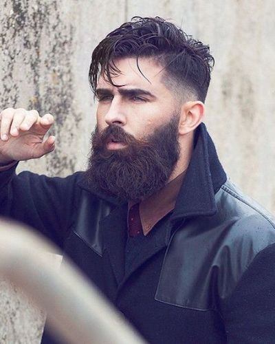 Messy Top with Drop Fade and Great Beard