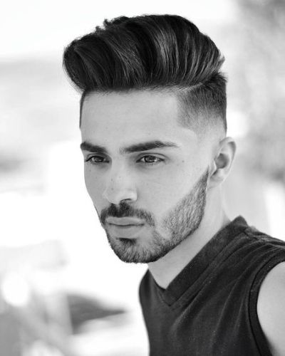 The Double Parted Undercut Pomp with Disconnected Scruff and Taper Fade