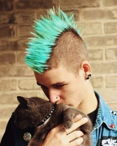 Short Sides and Turquoise Mohawk