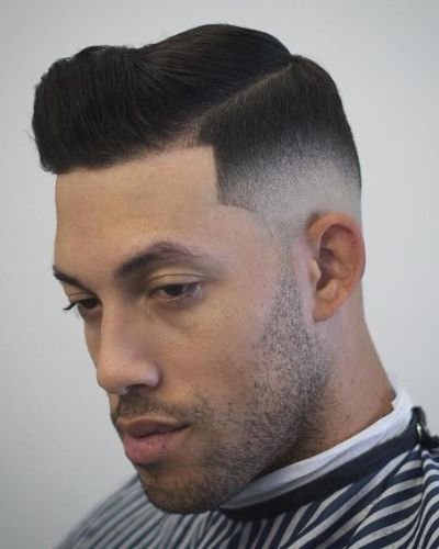 The Mafia Look Shape Up with Slight Part and Fade