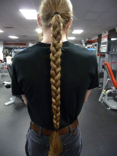 blonde classic braided ponytail for men