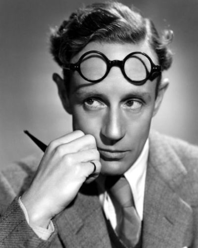 The Young Leslie Howard Side Part with Curls