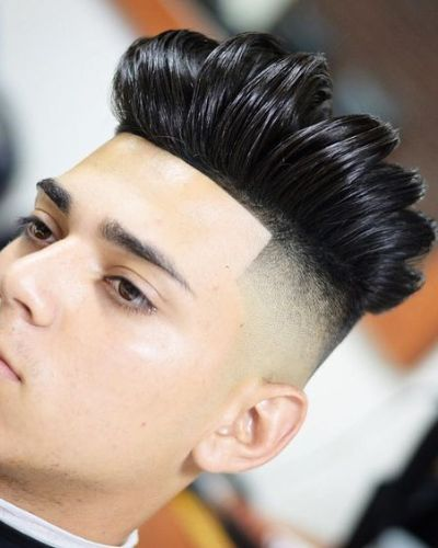 Cropped Haircut with Gelled Shape Up