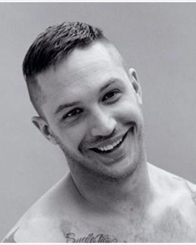 The Tom Hardy Crop with Bald Fade Stubble