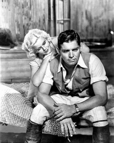 Messy Gelled Hair Young Clark Gable