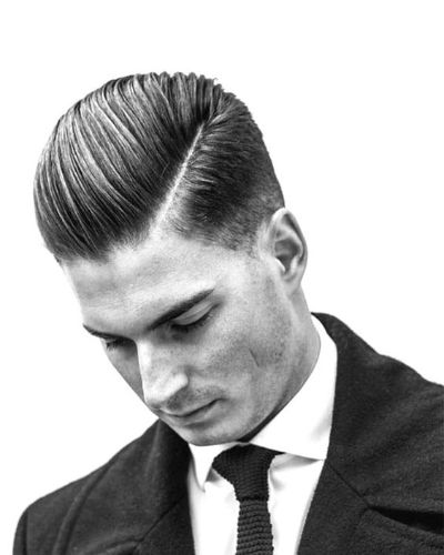 Slicked Back and Part with Fade