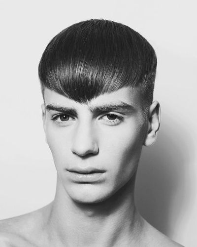 Symmetrical Straight Hair Fringe with Short Sides