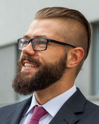 Undercut, Short Sides, and Beard