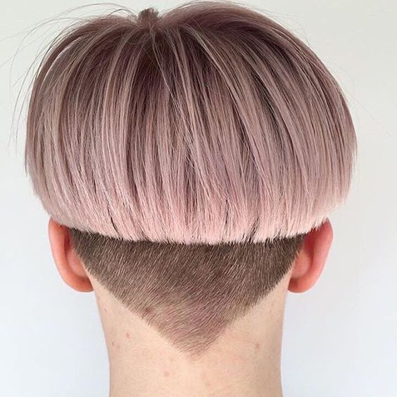 Punk Pink cut with shaved sides
