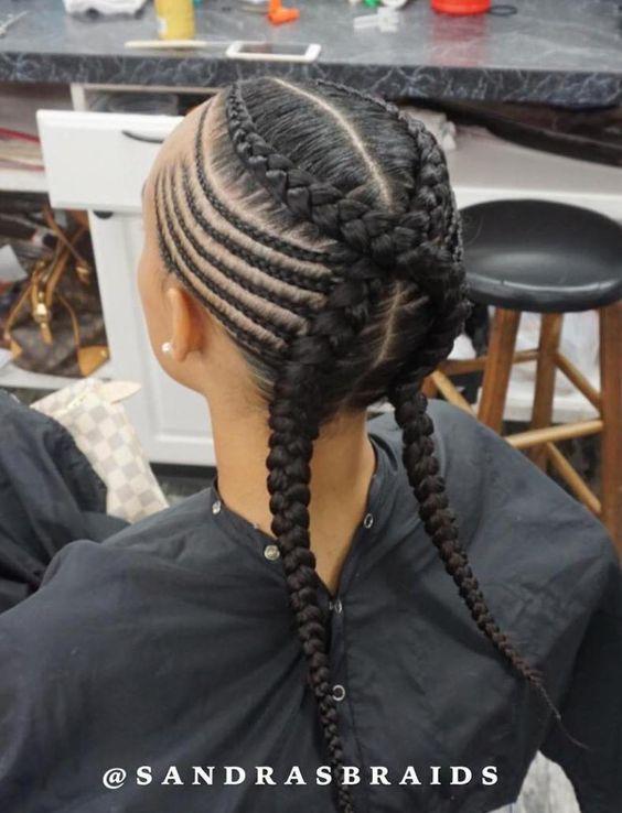 side braids for long hair