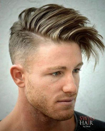 Side Swept Long Spiky Bangs with Undercut
