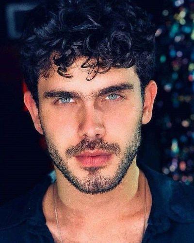 Curly Hair and Short Beard
