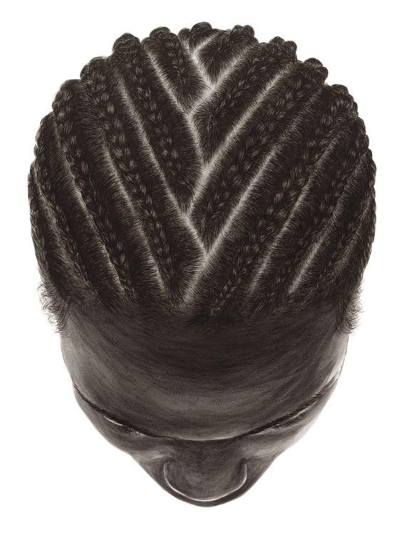 hyperrealistic cornrows braids for men