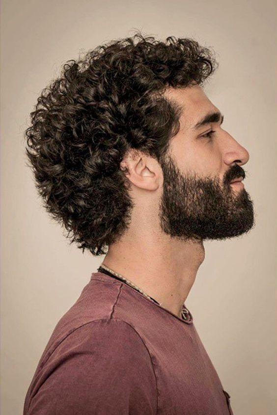 Medium-Short Jewfro with Beard