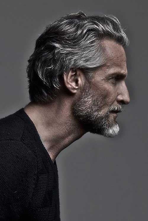 Slicked Back Wavy Hair styles for men