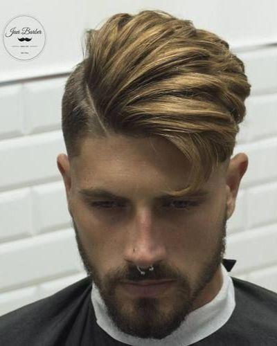 Hard Part Asymmetrical Dapper Cut with Beard