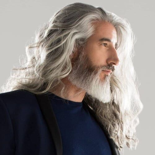 Incredible long gray hair styles for men