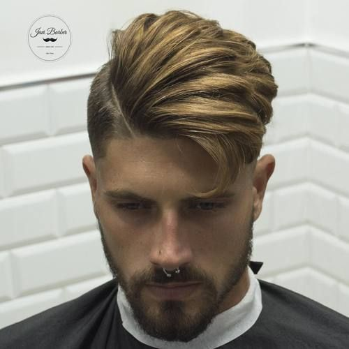 aggressive asymmetrical hairstyles for men with wavy hair