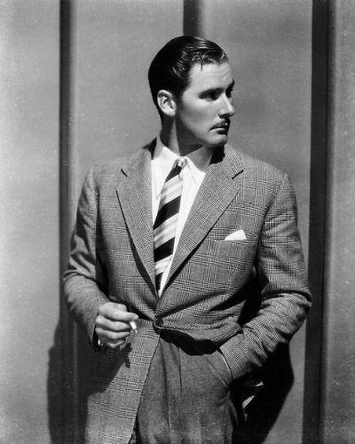 The Classic Sleek Curl Young Errol Flynn