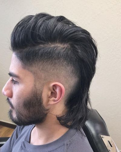 Side Swept Undercut Part with Mullet