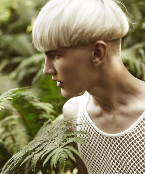 Blonde Precision bowl cut