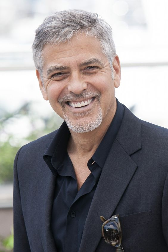 The Old George Clooney gray hair style