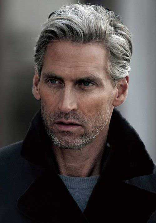 Short Stubble and Dreamy Gray hair styles