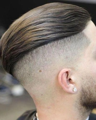Undercut Slick Back with Tapered Shaved Sides