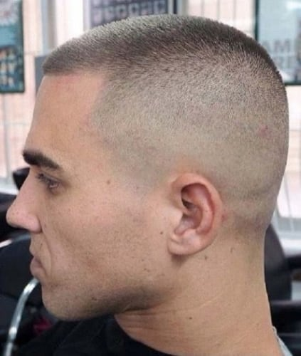 original military buzz cut