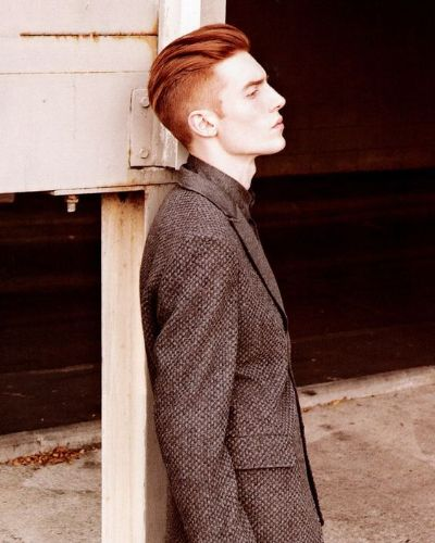Incredibly Stylish Red Hair Undercut