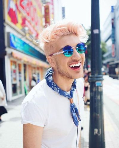 Peach White Hair with Undercut