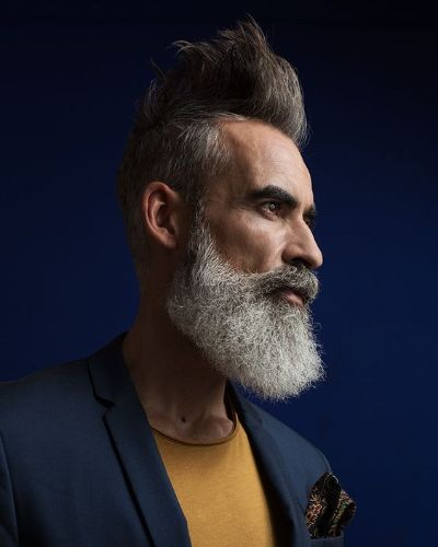 Shape Up Undercut with Phenomenal Sculpted White Beard