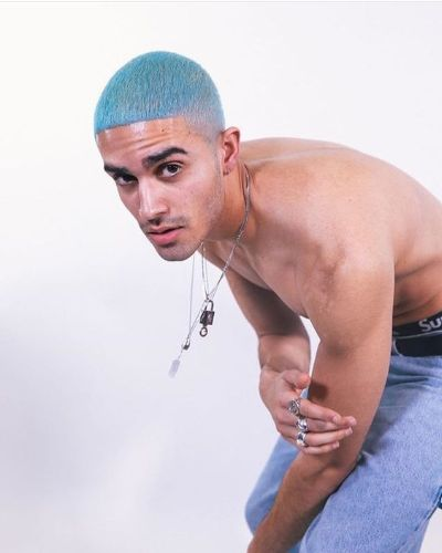 Blue Cropped Haircut