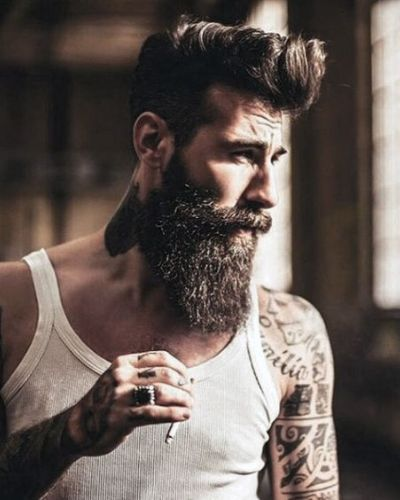 Classic Pompadour Style Shape Up with Sensational Beard