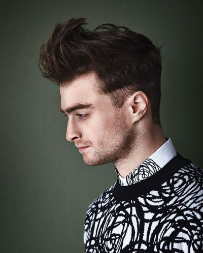Daniel Radcliffe Forward Swept Quiff with Cropped Sides