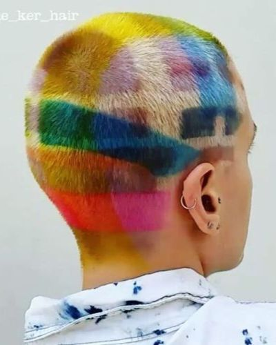 Painting Style Colorful Haircut