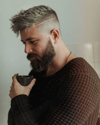 Forward Sweep with Undercut and Precision Cut Beard