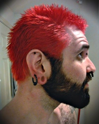 Red Hair with Black Beard
