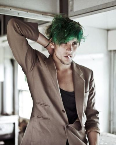 Green Messy Shaggy Hair