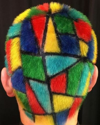 Rainbow Mosaic Hair