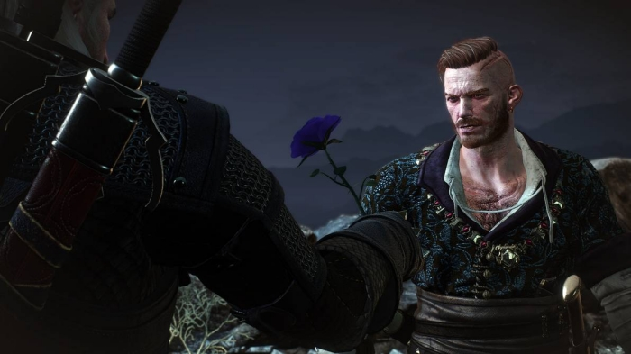 geralt giving olgeird purple rose video game hairstyles featured image