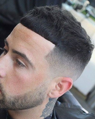 French Crop with Tight Razor Fade and Short Beard