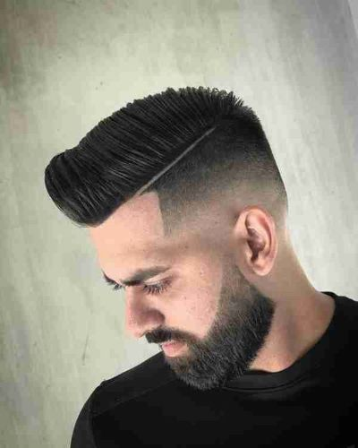 Tight Hard Part and Taper Fade with Precision Cut Beard