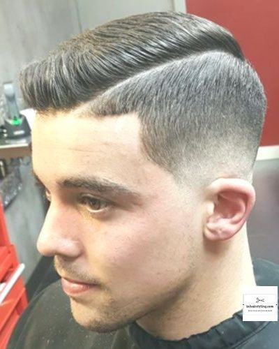 Hard Part Razor Fade Classic Hairstyle