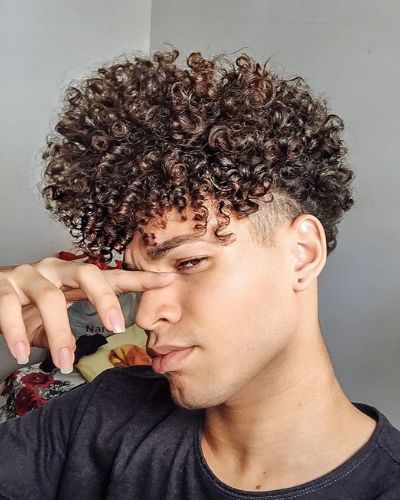Loose Curls with Very Low Fade