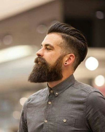 Diagonal Hard part with Fade and Impeccable Beard