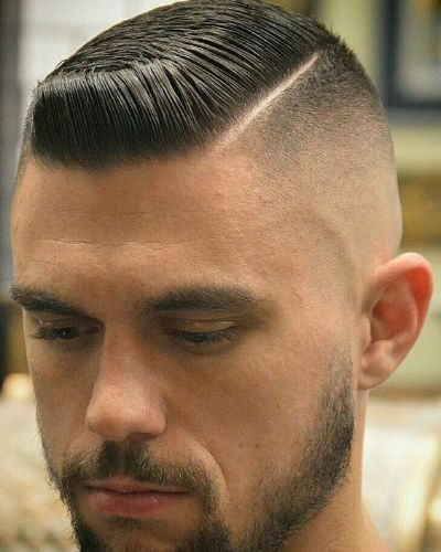 Hard Part for Short Hair and Skin Fade