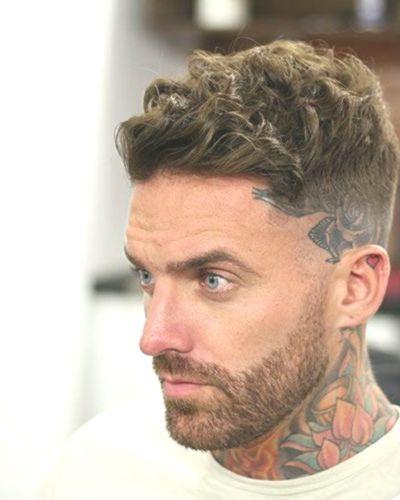 Wavy Hair Razor Fade with Short Beard
