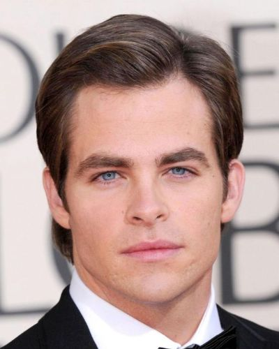 The Side Part Medium Hairstyle Chris Pine